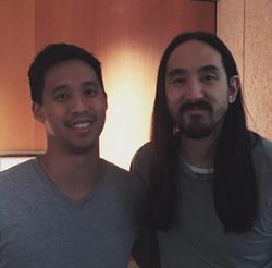 Benny with                               Steve Aoki                              .                                                                  [6]