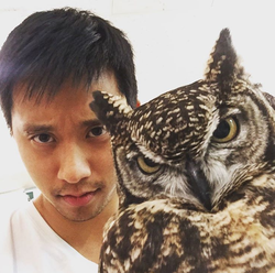Benny with an owl. [6]