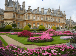 A Rothschild house,                                 Waddesdon Manor                                in                                 Waddesdon                                , Buckinghamshire, England donated to the National Trust by the family in 1957.