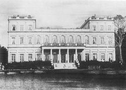 A landmark Rothschild Palace in Frankfurt, Germany, Villa Günthersburg (photographed 1855)