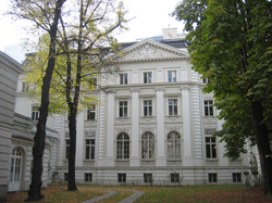 One of the smaller city houses, Vienna. A collection of far larger Viennese palaces known as                                 Palais Rothschild                                were torn down during the Second World War.