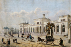 The Frankfurt terminus of the Taunus railway, financed by the Rothschilds. Opened in 1840, it was one of Germany's first railways.