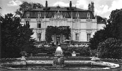 Grüneburgschlößchen, Frankfurt, 1845, one of the Rothschilds' many German garden-mansions. This particular estate was destroyed in an Allied bombing raid, 1944.