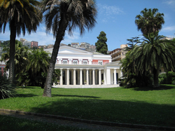 Villa Pignatelli, Naples, with views onto Mount Vesuvius