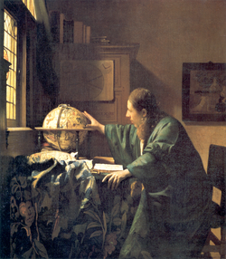 Vermeer's                                 The Astronomer                                , donated to charity by the family in 1982.