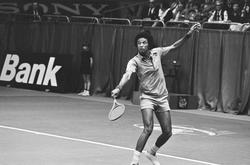 Arthur Ashe                                at the                                 1975 ABN World Tennis Tournament