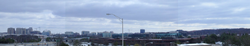 Panoramic view from Herndon-Monroe Park & Ride lot
