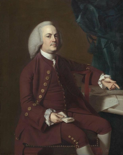 Portrait of Isaac Royall, painted in 1769 by                                 John Singleton Copley