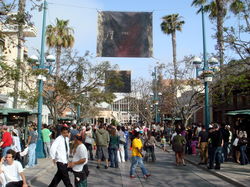 A busy day on                                 Third Street Promenade                                in Santa Monica, California; the south end is the entrance to                                 Frank Gehry                                's                                 Santa Monica Place                                .