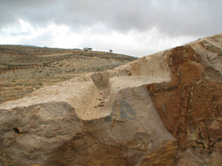 Carved rock in the Aaiha plain (credit Paul Bedson)