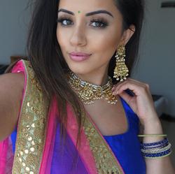In a colorful sari                  [3]