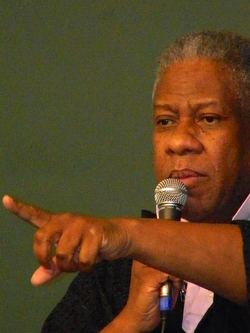 Talley fielding questions at New York book signing, June 10, 2013.