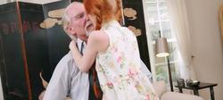 Kissing an older man
