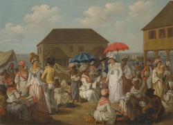 A linen market in 1770s Dominica