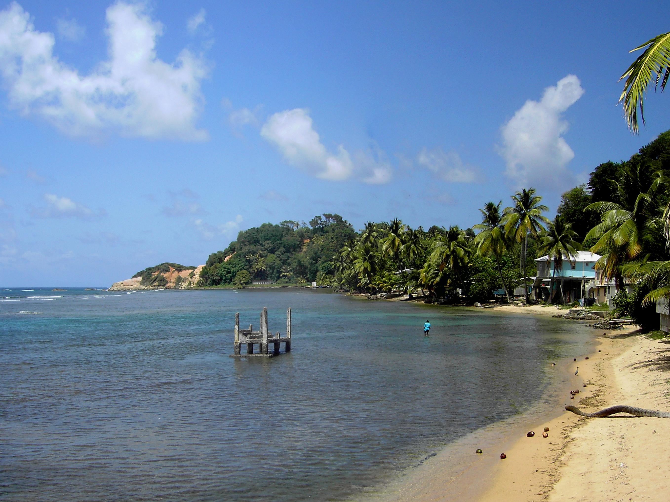 Calibishie beach landscape