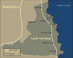 Dominica's east coast Carib Territory