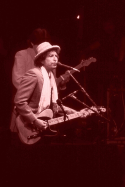 Dylan performs in                                 Ahoy Rotterdam                                , the Netherlands, June 4, 1984