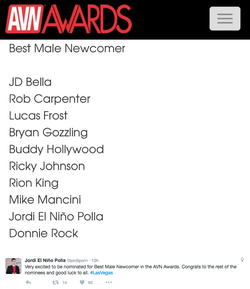 Nominated for Best Male Newcomer*