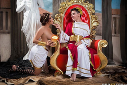 Photo of Jordi with a costar, as a Ceasar [9]