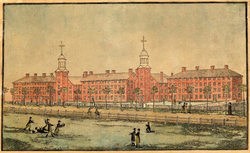 Old Brick Row in 1807.