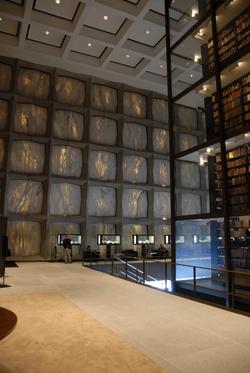 Interior of Beinecke Library