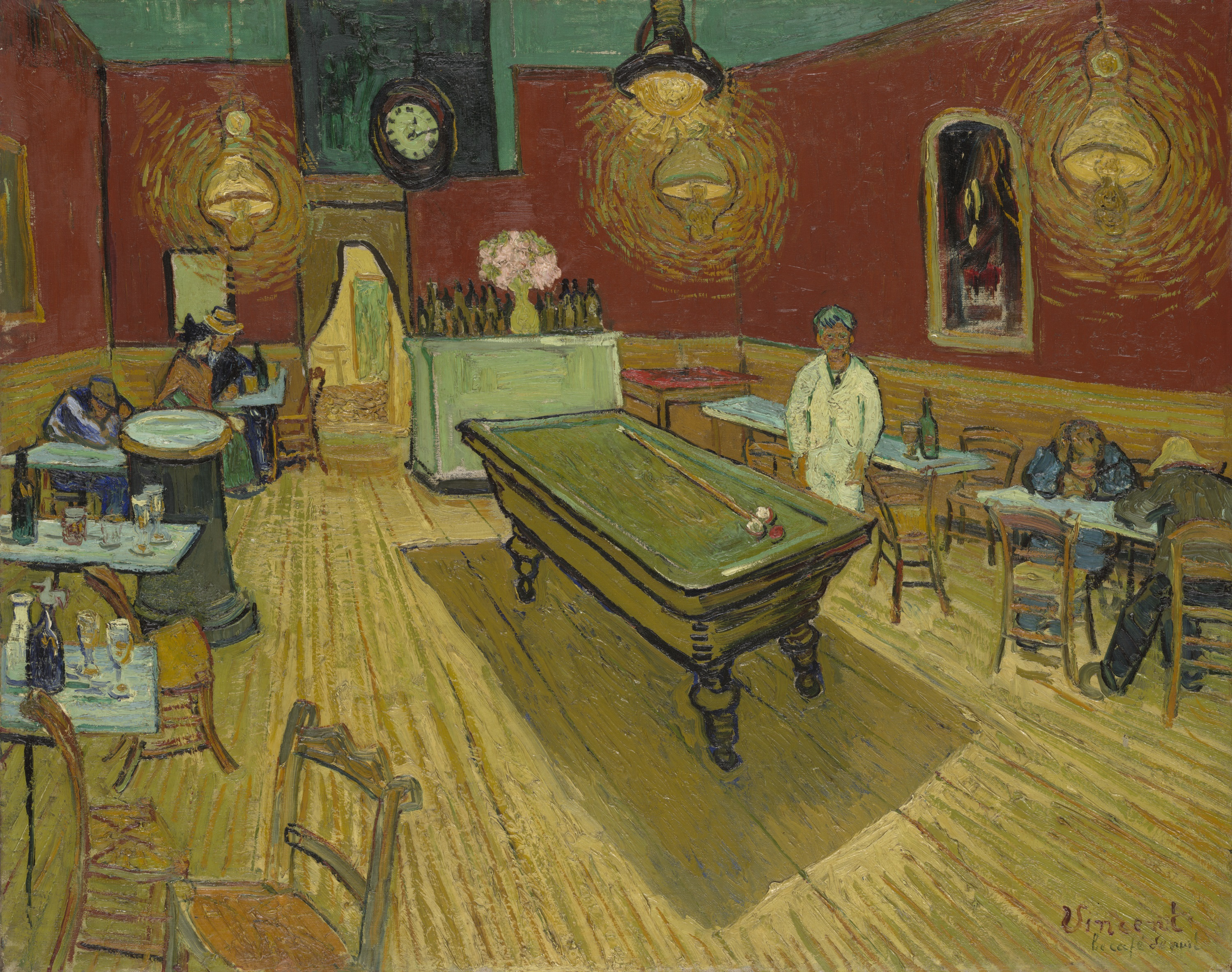 The Night Café, Vincent van Gogh, 1888, Yale Art Gallery.