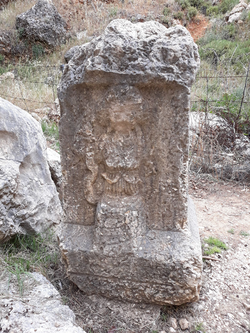 Rock detail outside Nymphaeum  (credit Hagop Kazazian)