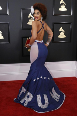 Back view of the MAGA dress