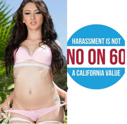 Poster featuring Mandy created to oppose Proposition 60 [8]