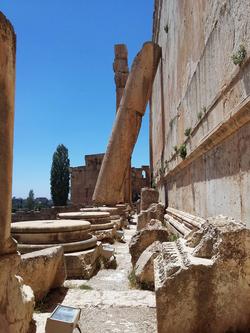 Baalbek Temple fallen column (credit Hagop Kazazian)