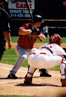 Bagwell at bat for the Astros