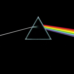 The iconic artwork for                                                   The Dark Side of the Moon                                                 was designed by Hipgnosis and                                 George Hardie                                .