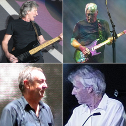 Clockwise (from top left): Waters, Gilmour, Wright and Mason