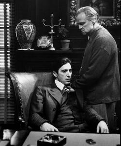 Al Pacino as Michael Corleone                                Marlon Brando as Vito Corleone