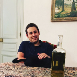Maxime at a dinner.[10]