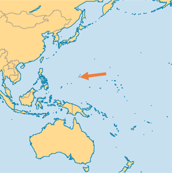 Guam on an Oceanic map
