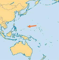 Guam on an Oceanic map
