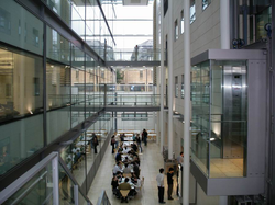 Atrium of the Chemistry Research Laboratory. The university has invested heavily in new facilities in recent years.