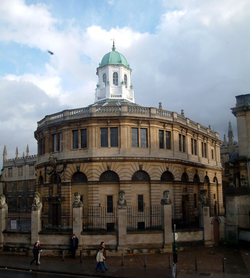 The Sheldonian Theatre, built by Sir Christopher Wren between 1664 and 1668, hosts the university's Congregation, as well as concerts and degree ceremonies.