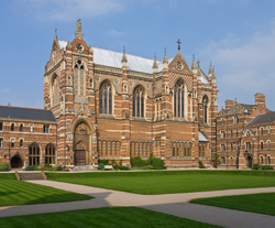 Chapel of Keble College, one of the constituent colleges of the University of Oxford
