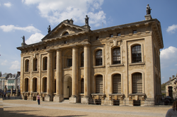 The Clarendon Building is home to many senior Bodleian Library staff and previously housed the university's own central administration.