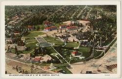 Aerial view of campus, circa 1922