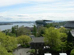 Husky Stadium, campus, and Lake Washington
