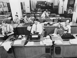 The New York Times  newsroom, 1942