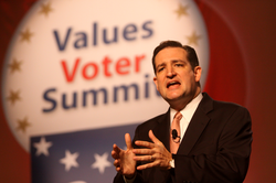 Cruz speaking to the Values Voters Summit in October 2011