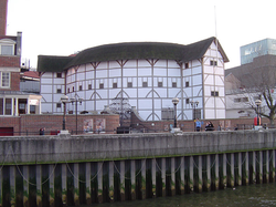 The reconstructed  Globe Theatre  , London.