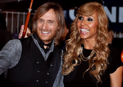 Guetta and his ex-wife Cathy in January 2012 at the NRJ Music Awards ceremony.