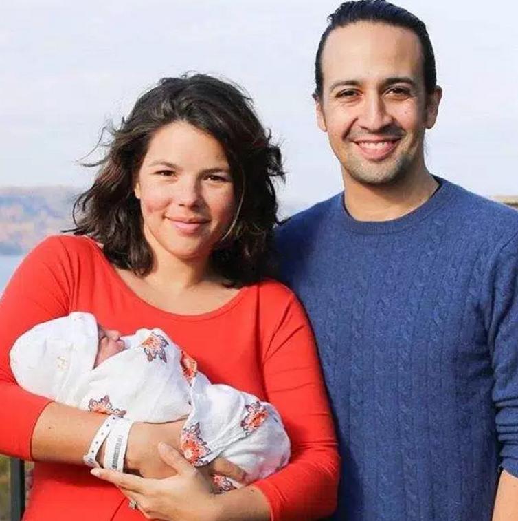 With her son, Sebastian.