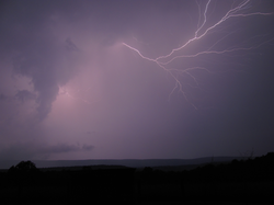 Lightning over Cacapon Mountain in West Virginia Skies