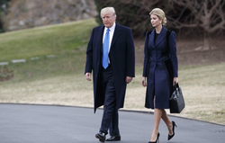 Don and Ivanka walk together near the White House.